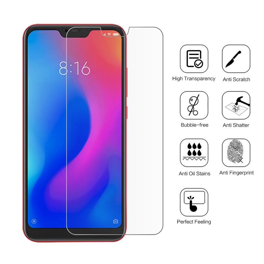 Tempered Glass Screen Protective Case for Huawei Honor 8X  2pcs- Transparent