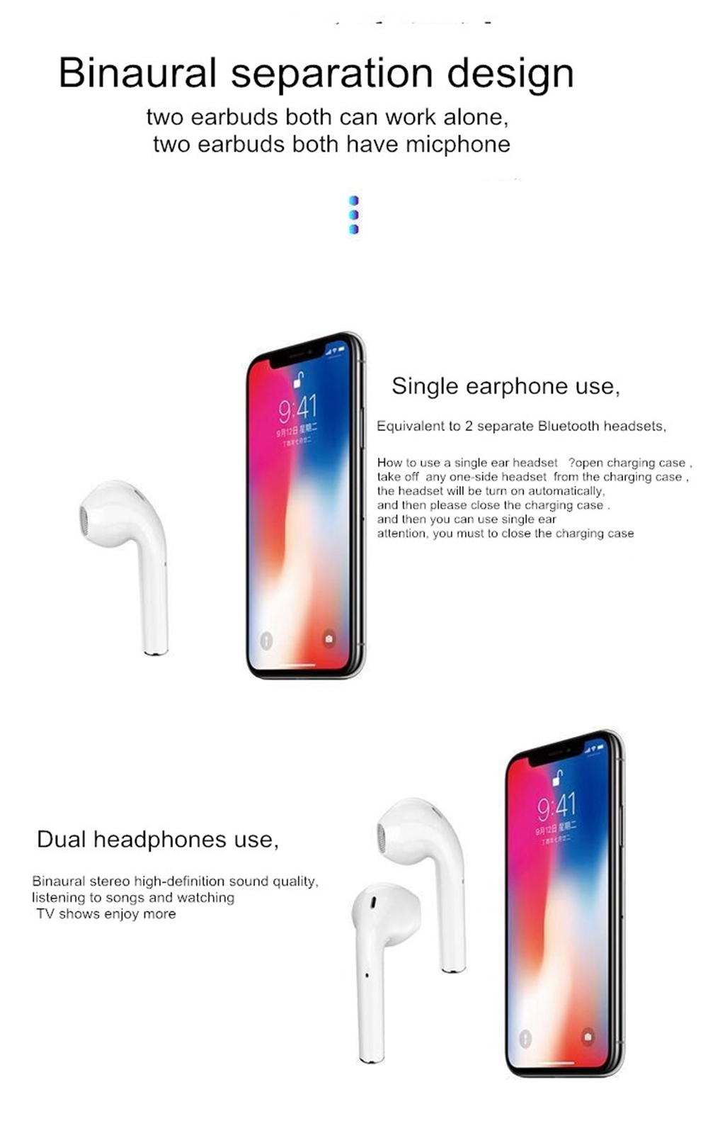 i88 TWS Bluetooth 5 0 Earbuds Wireless Smart Touch Control Earphones