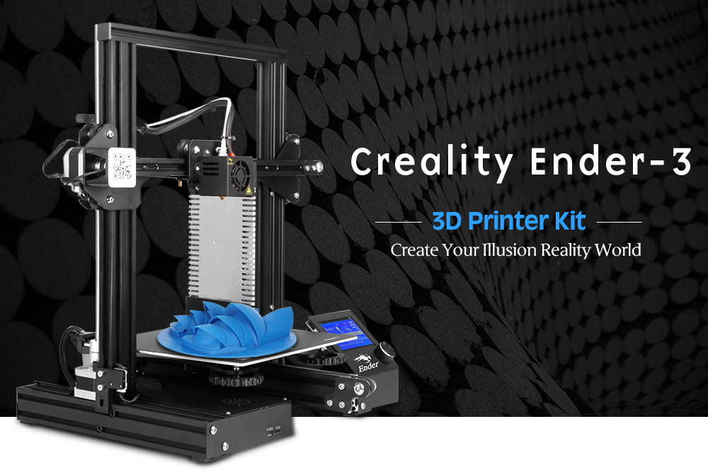 Creality 3D Ender - 3 ( Ender - 3 Upgraded Version ) 3D Printer - Black EU Plug