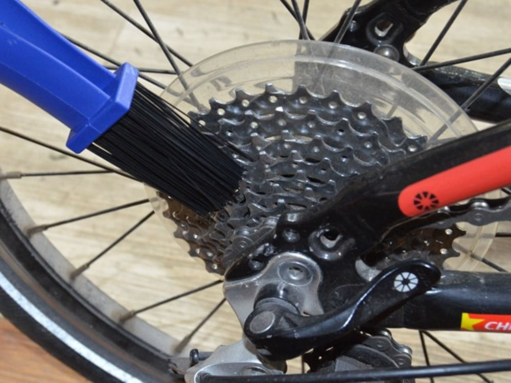 Cycling Motorcycle Chain Cleaning Brush Scrubber Tool- Blue