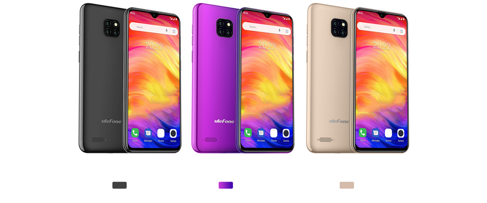 Ulefone Note 7 3G Phablet 6.1 inch Android 8.1 ( Go Edition ) MT6580A Quad-core 1.3GHz 1GB RAM 16GB ROM 5.0MP Front Camera 3500mAh Built-in EU Version- Champagne Gold EU Version