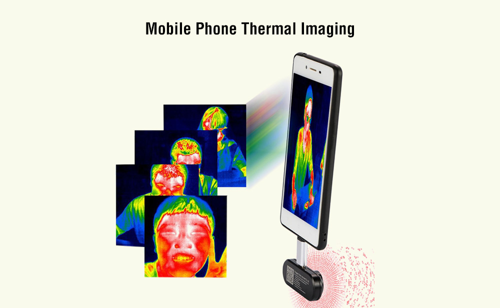 HTI HT 102 Android Mobile Phone Thermal Imaging Black