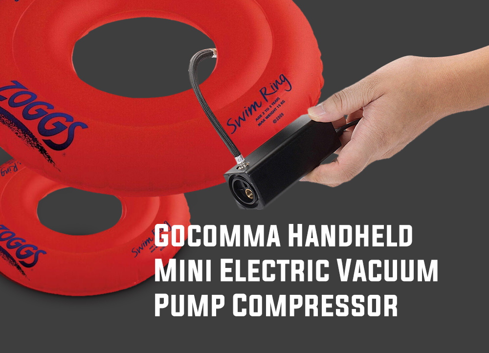 Gocomma Handheld Mini Electric Aspirateur Pump Compressor Black