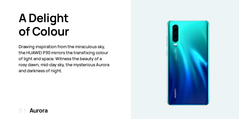 HUAWEI P30 4G Phablet 6.1 inch EMUI9.1.0 ( Android 9 ) Kirin 980 Octa Core 2.6GHz 8GB RAM 128GB ROM 32.0MP Front Camera Screen Fingerprint Sensor 3650mAh Built-in - Twilight