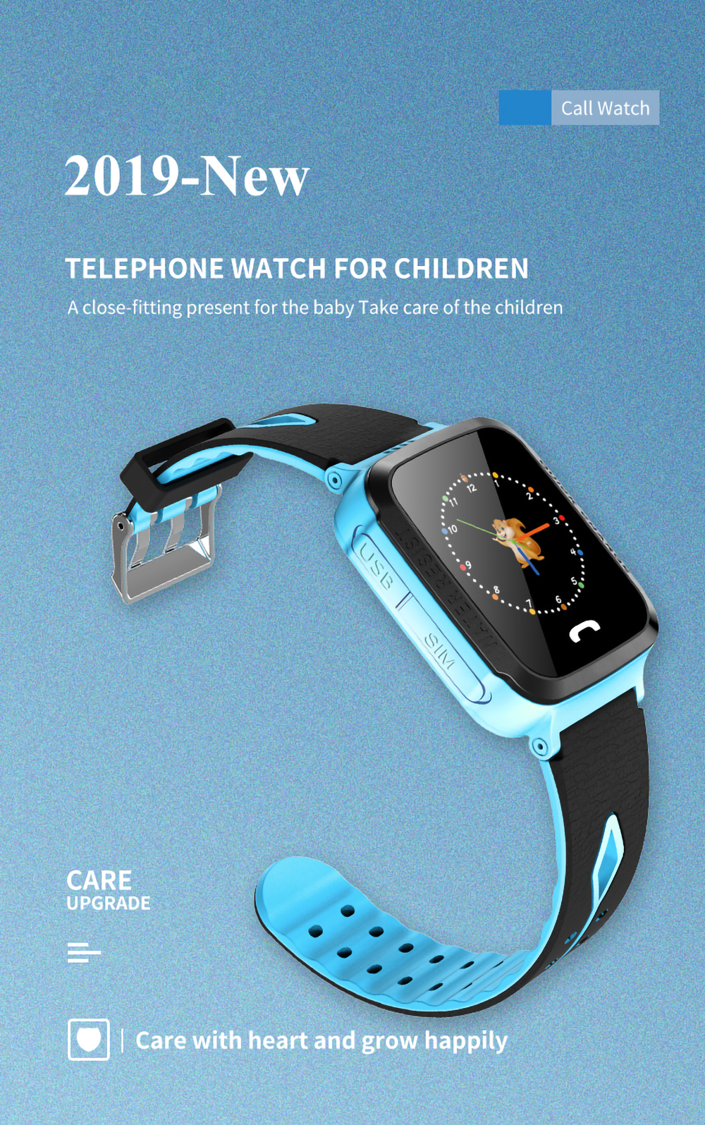 LBS Location Call Camera SOS Positioning Tracking Kids Smart Watch Phone