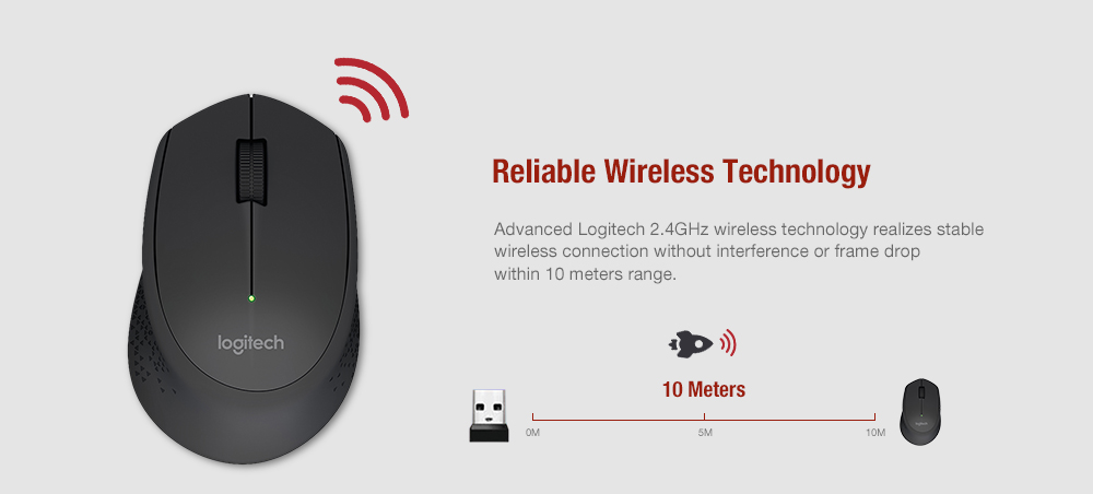 a72969a53f9 Logitech M280 Wireless Mouse Support Office Test with USB Nano Receiver  1000dpi for Windows Mac OS