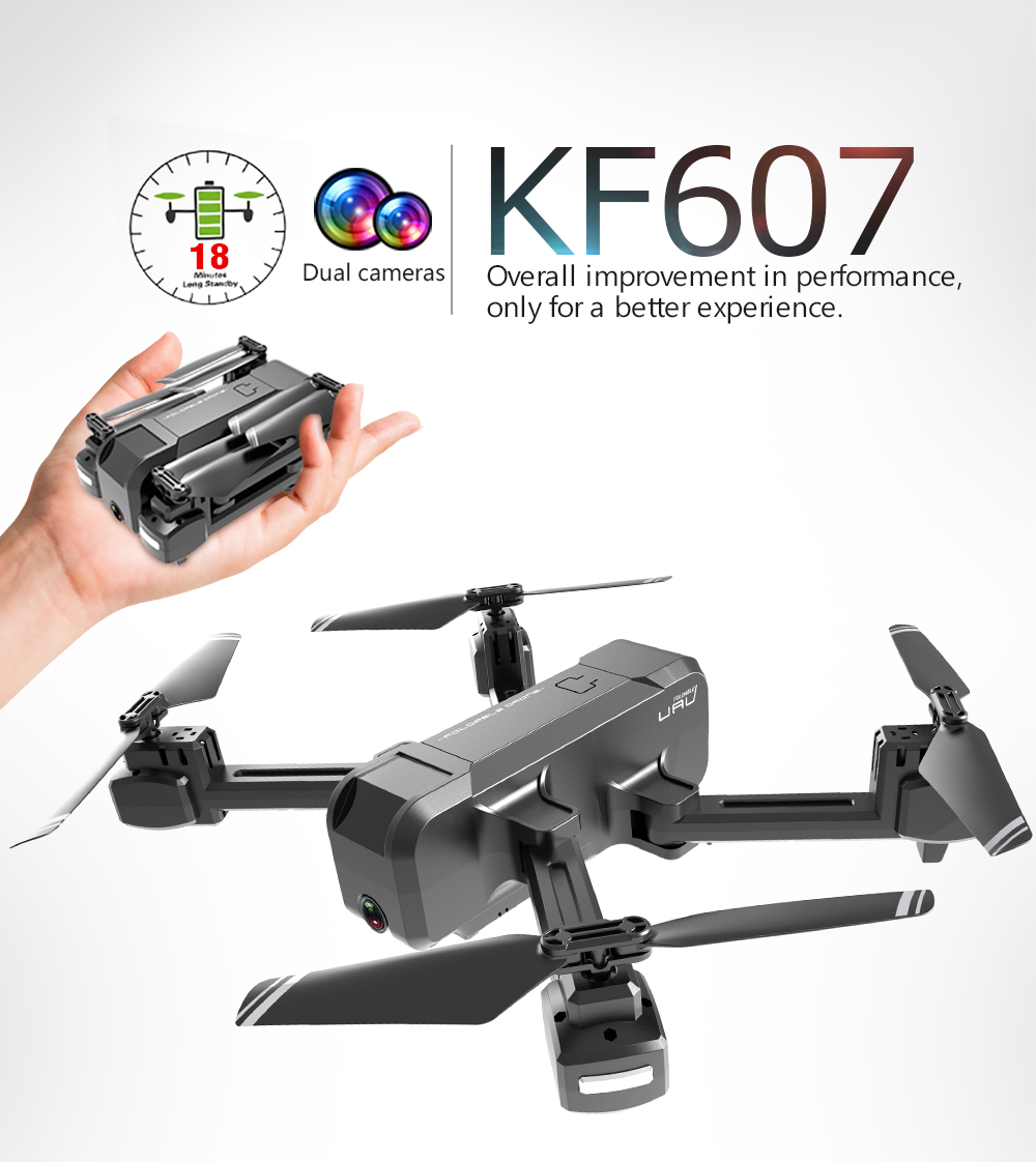 KF607 Quadcopter Optical Flow Pressure Altitude Hold Black 4K Camera