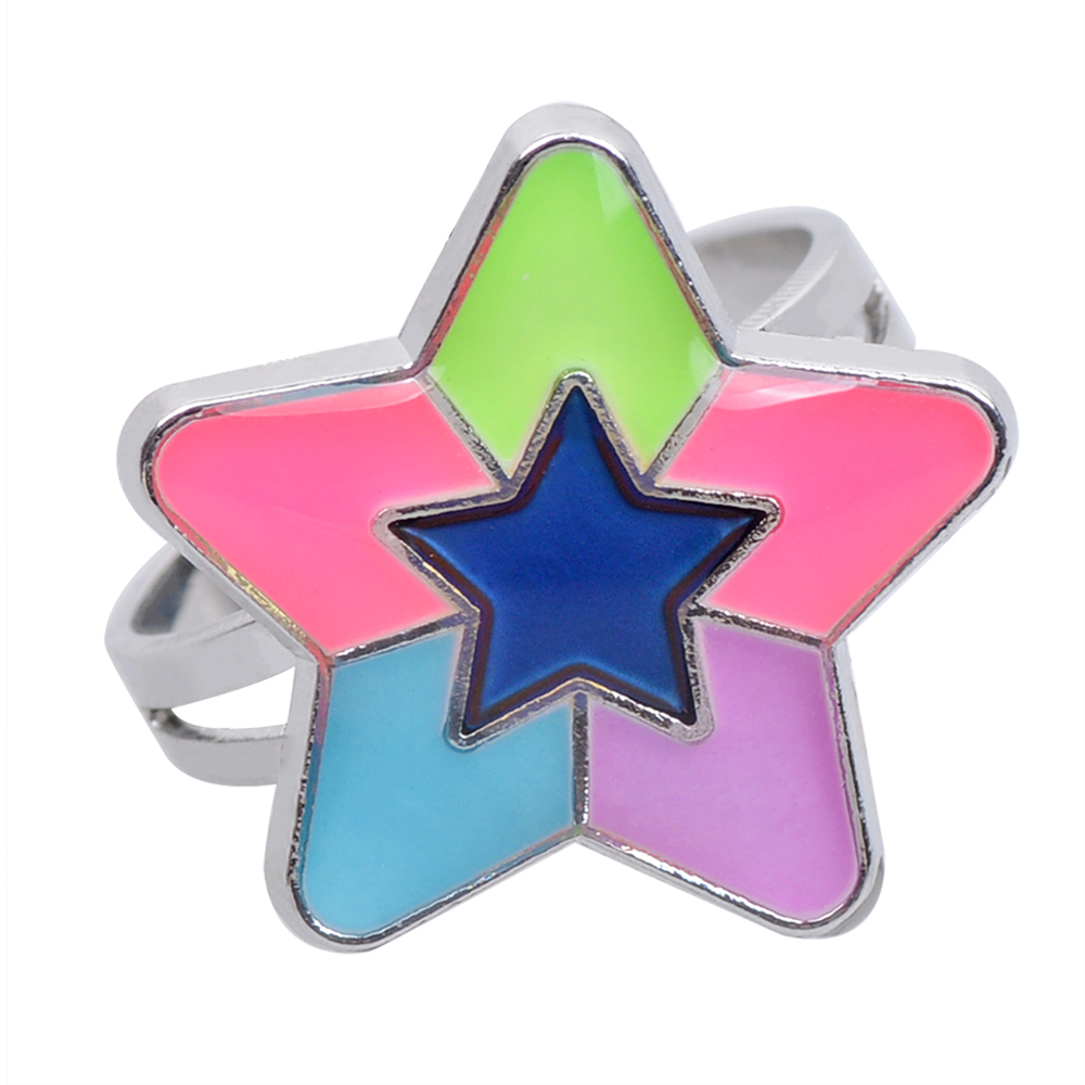 Luminous Star Temperature Change Color Mood Ring Adjustment Size 1PC- Multi One Size