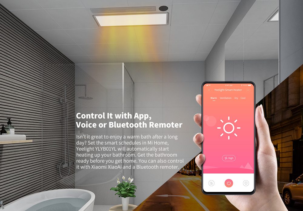 Yeelight YLYB01YL Intelligent 8 in 1 LED Bath Heater Pro Ceiling Light ( Xiaomi Ecosystem Product )- White
