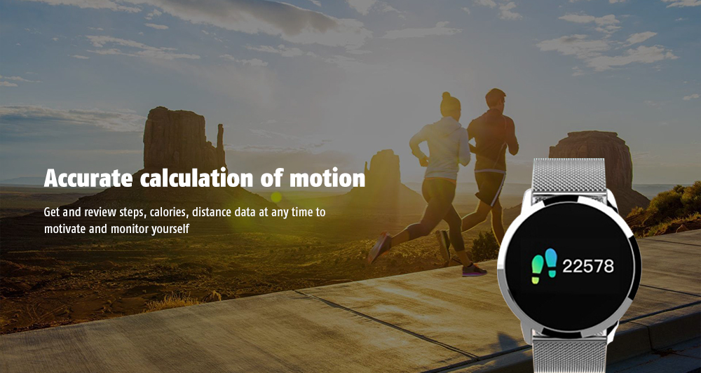 Q8 Accurate Motion Calculation / Remote Picture / Smart Alerts / Heart Rate Monitor / Touch Screen Smart Watch- Silver