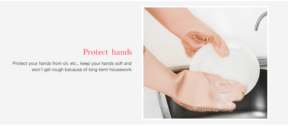 Jordan Judy Silicone Dishwashing Household Glove from Xiaomi youpin- Pink