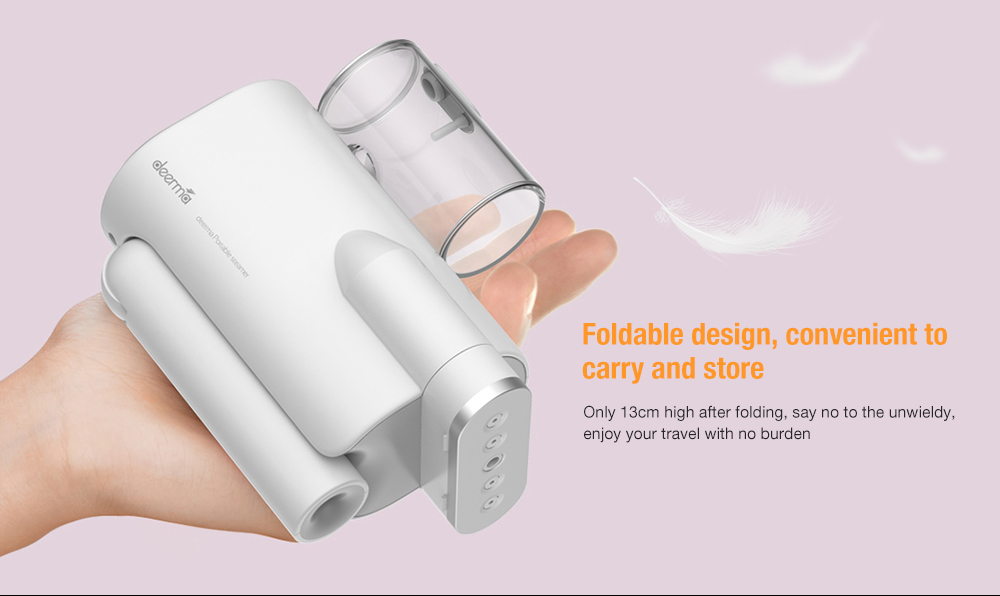deerma DEM - HS006 Foldable Handheld Garment Steamer Mini Travel Portable Clothes Iron Wrinkle Remover- White