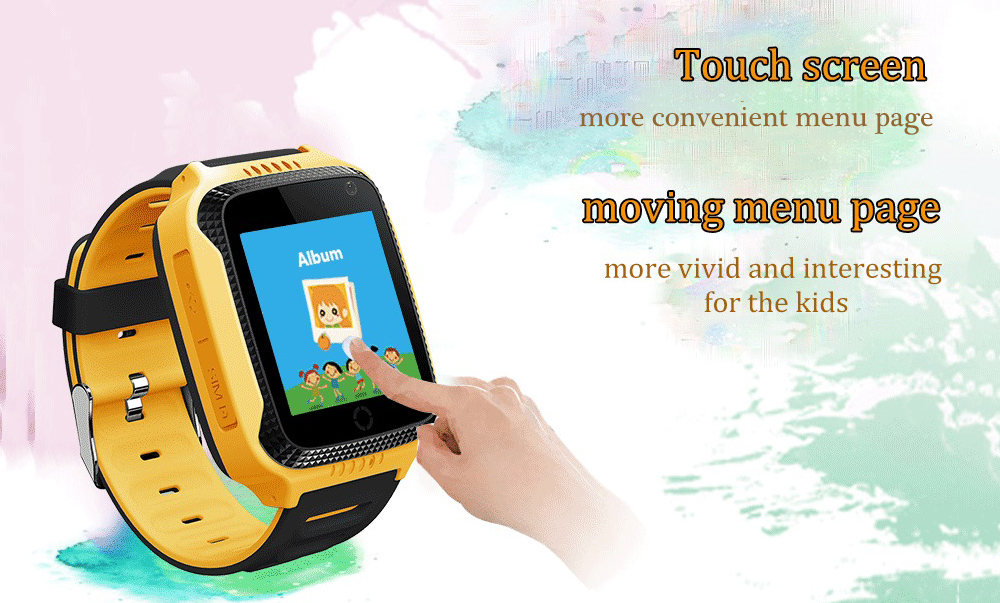 Q529 1.44 inch LCD Display Children Smart GPS Positioning Watch- Blue