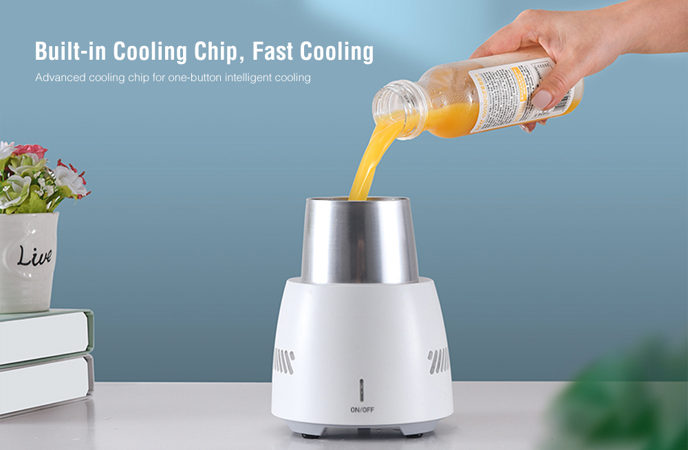 B1 Portable Fast Ice Cooling Cup Machine for Home Office- White