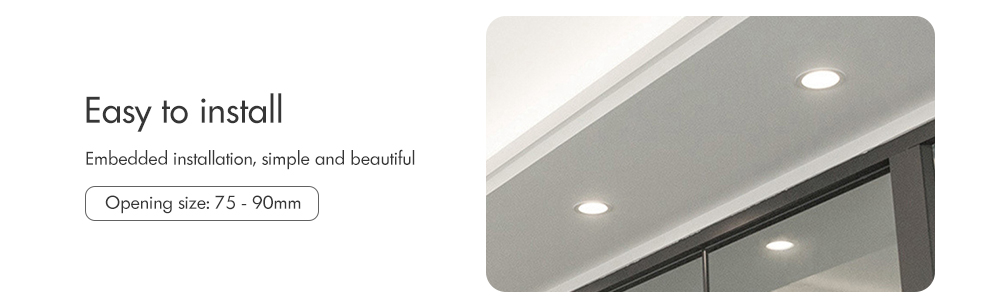 FCMILA FC - 7W WiFi 7W RGBW APP Control Smart Downlight- Milk White