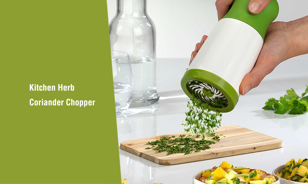 Home Practical Herb Grinder Sauce Coriander Chopper - Clover Green