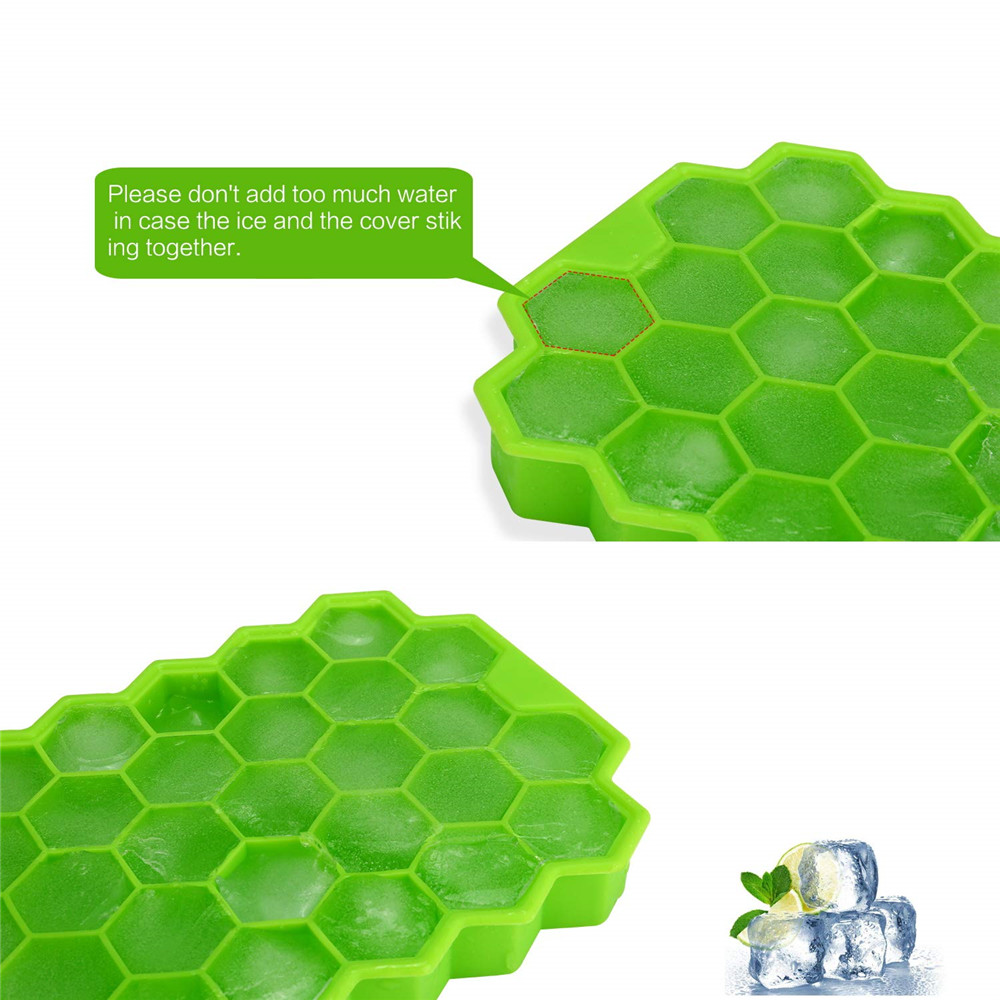 Ice Block Mold with Ice Cover- Green