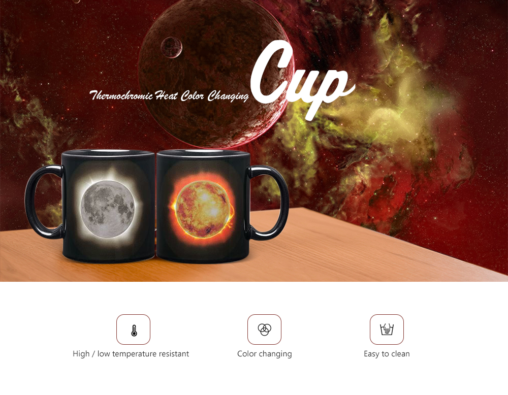 Creative Household Color Changing Cup- Black