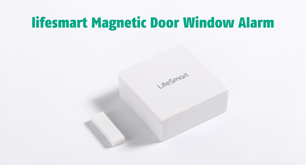 lifesmart Wireless Switch / Intelligent Linkage / Real-Time Monitoring Magnetic Door Window Alarm- White