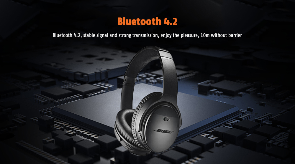 BOSE QC35 Long Lasting Time / Comfortable Wearing / Wireless Bluetooth 4.2 Noise Cancelling Headphone - Black