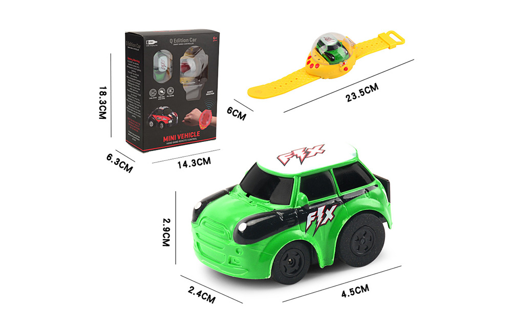 Mini 2.4G Gravity Induction Watch Remote Control Racing- Giallo Rubber Ducky