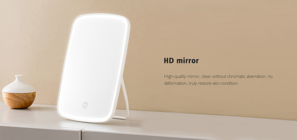 Jordan Judy Desktop Vertical LED Makeup Mirror - White