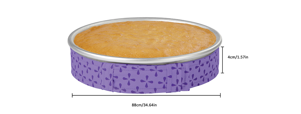 Cake Mold Baking Protection Strap Anti-deformation Fixing Belt- Tyrian Purple