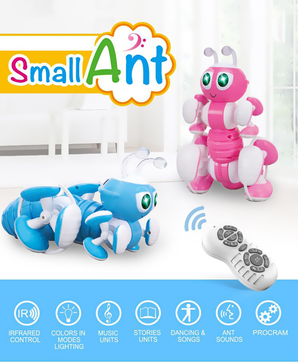 Intelligent Ant Electric Robot- Crystal Blue