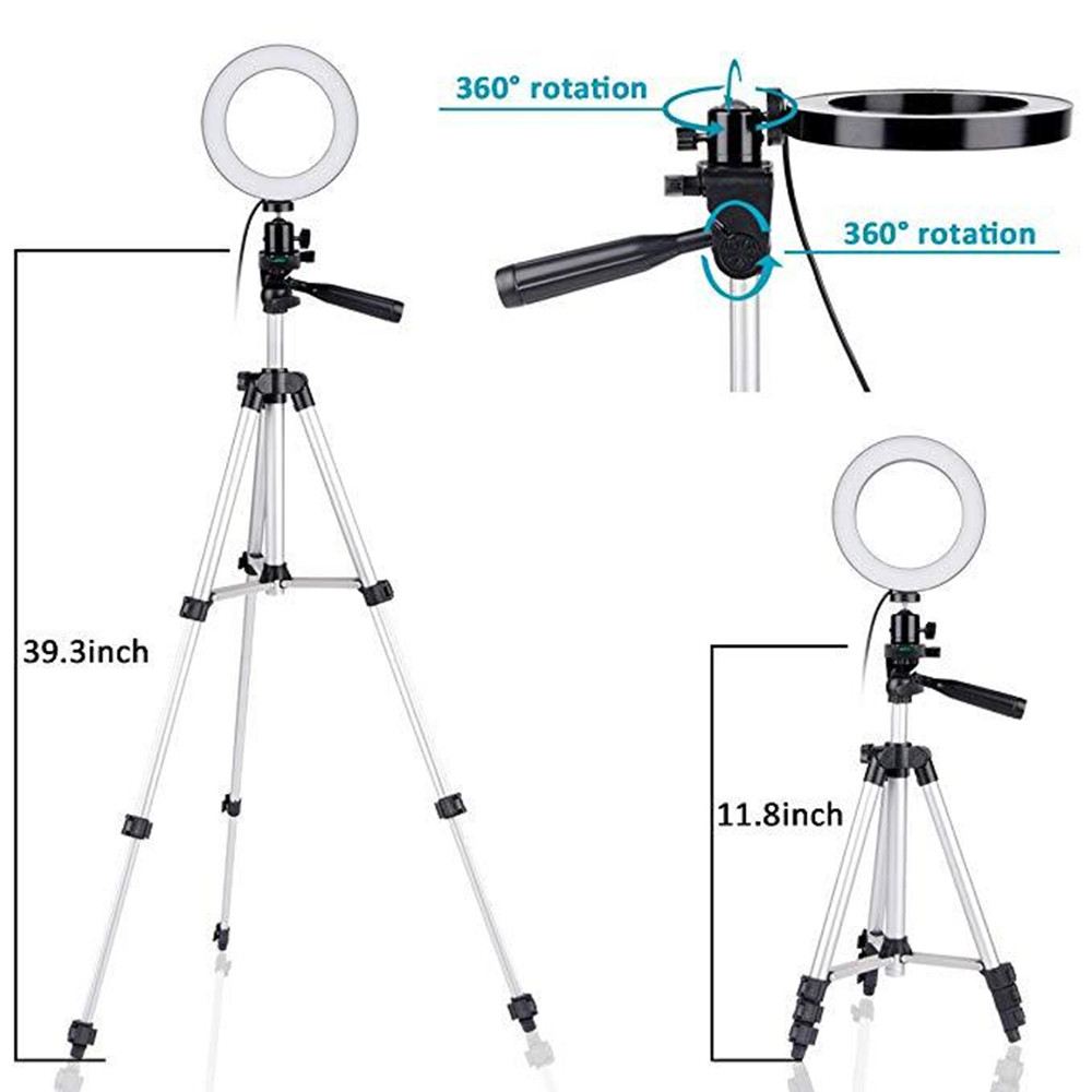 LING AI DA MAI 21-inch LED Ring Light with Tripod and Phone Holder for Shooting with 3 Light Modes and 10 Brightness Levels for Live Streaming//Makeup//YouTube Videos