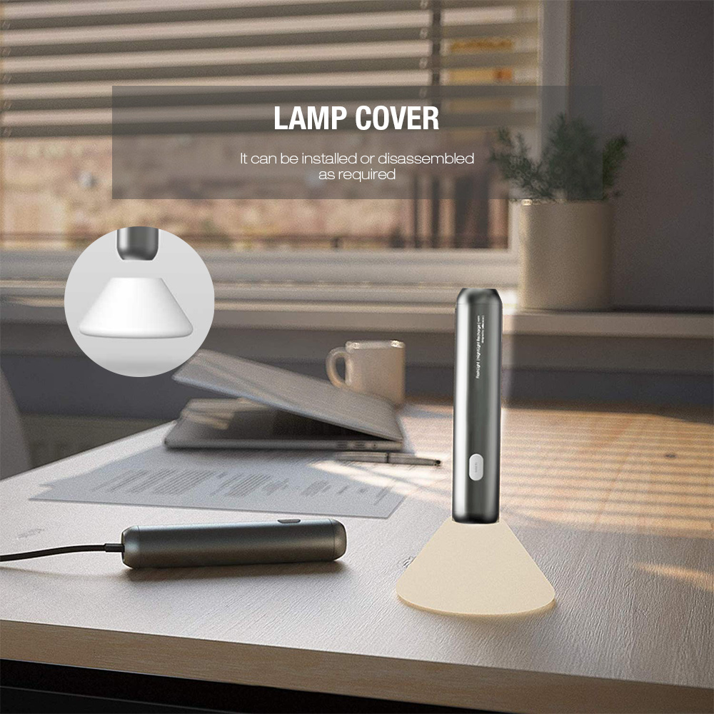 Allocacoc Rechargeable Flashlight Desktop Night Light - Cloudy Gray
