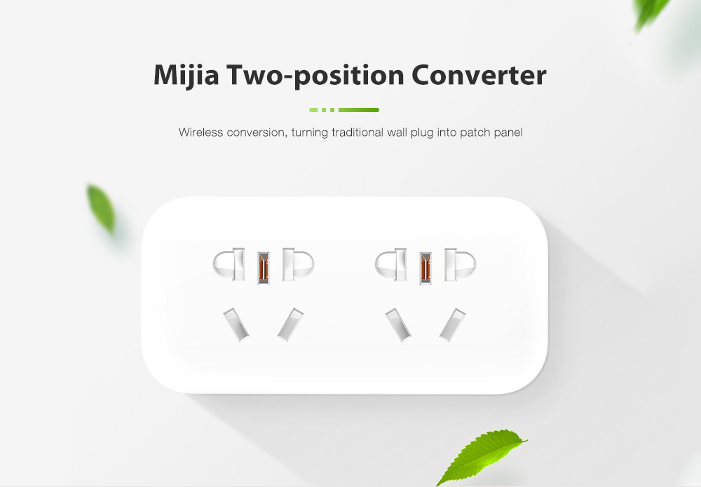 Xiaomi Mijia Universal Home Compact Practical Two Position Converter- White
