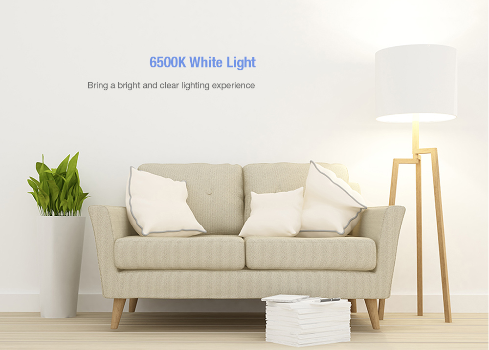 Xiaomi Mija Philips Zhirui Universal 5W LED Energy-saving Light Bulb E27 220V from Xiaomi youpin- White 1Pc