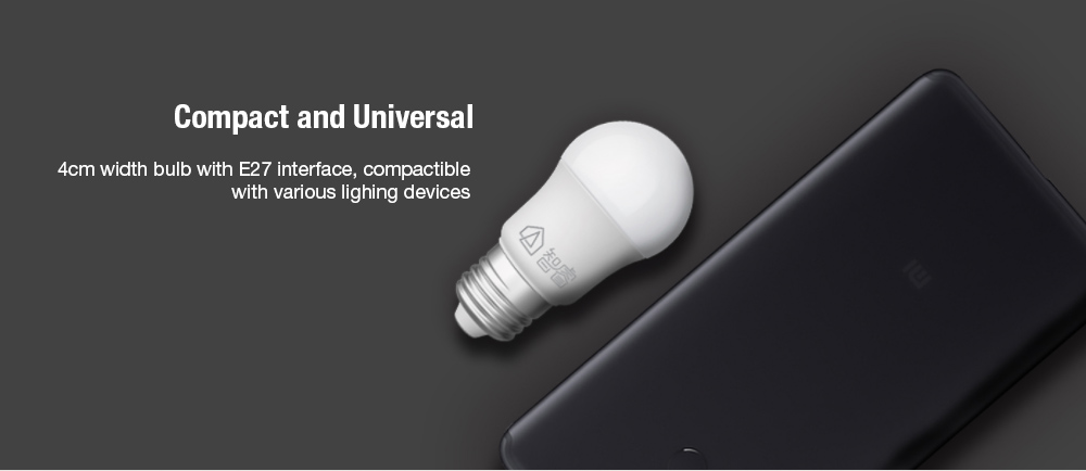Philips Zhirui Universal 5W LED Energy-saving Light Bulb E27 220V ( Xiaomi Ecosystem Product )- White 1Pc