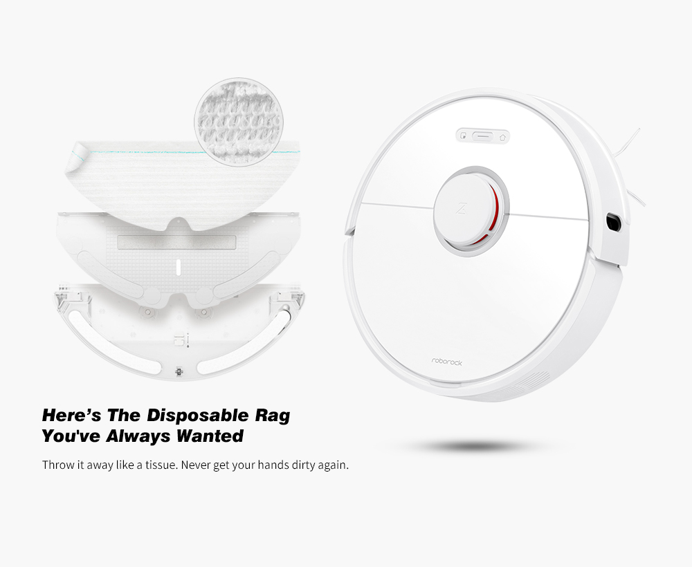 roborock S6 Robot Vacuum Cleaner from Xiaomi youpin- White EU Plug
