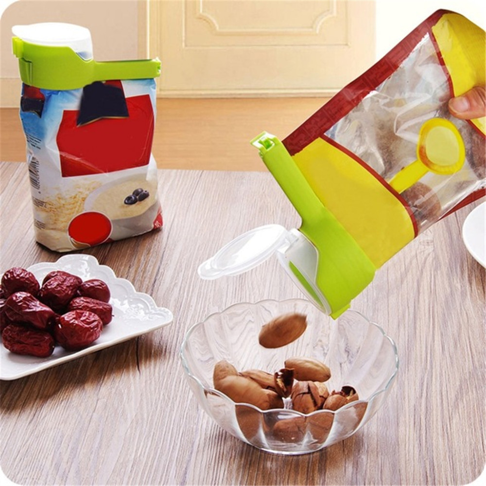 Seal Pour Food Storage Bag Clip- Yellow Green