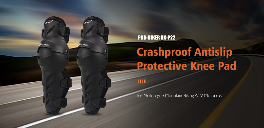 PRO - BIKER HX - P22 Summer Motorcycle Knee Pad Knight Equipment Riding Protective Gear Off-road Breathable Shatter-resistant Leg Protector- Black