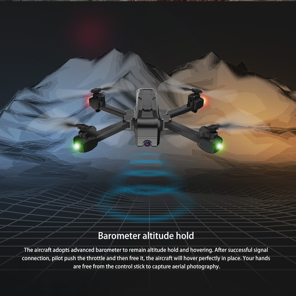 JJRC H73 1080P 5G WiFi RC Drone RTF with Point of interest / Following Mode- Black