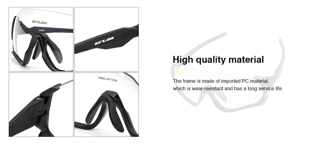 GUB 5800 Windproof Outdoor Sports Running Goggles with Myopia Frame- White
