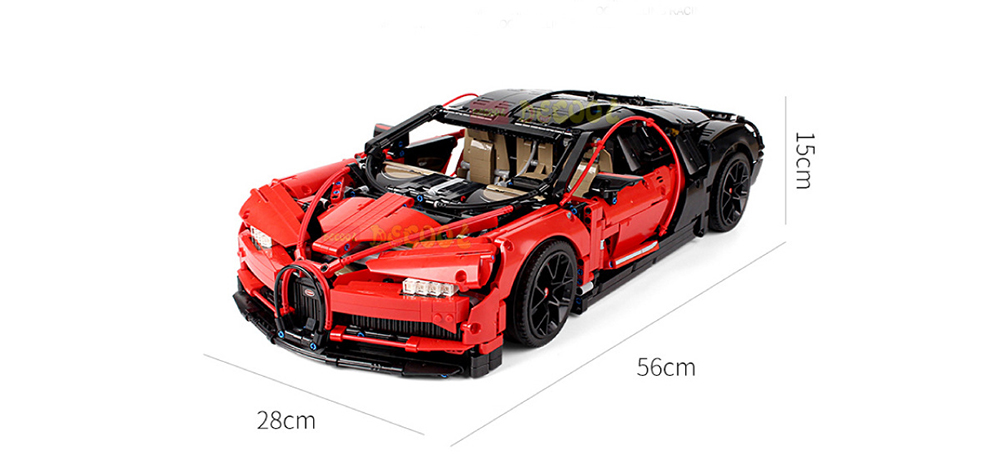 DC 3388 1:8 Sports Car Assembled Building Blocks 3625PCS Black