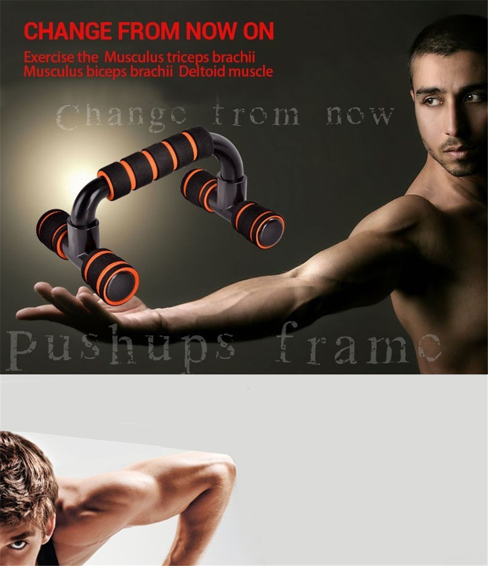 Esercizio di fitness all'aria aperta a forma di push-up a T 2PCS- Arancio