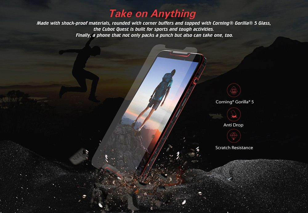 Refurbished CUBOT QUEST 4G Phablet 5.5 inch Android 9.0 MT6762 Octa Core 2.0GHz IMG GE8320 4GB RAM 64GB ROM 3 Camera Fingerprint Sensor Built-in 4000mAh Battery - Black