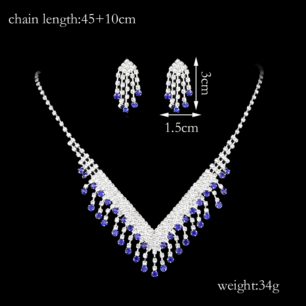 FEIS Fashion Jewelry Personality Tassels Necklace Set- Silver