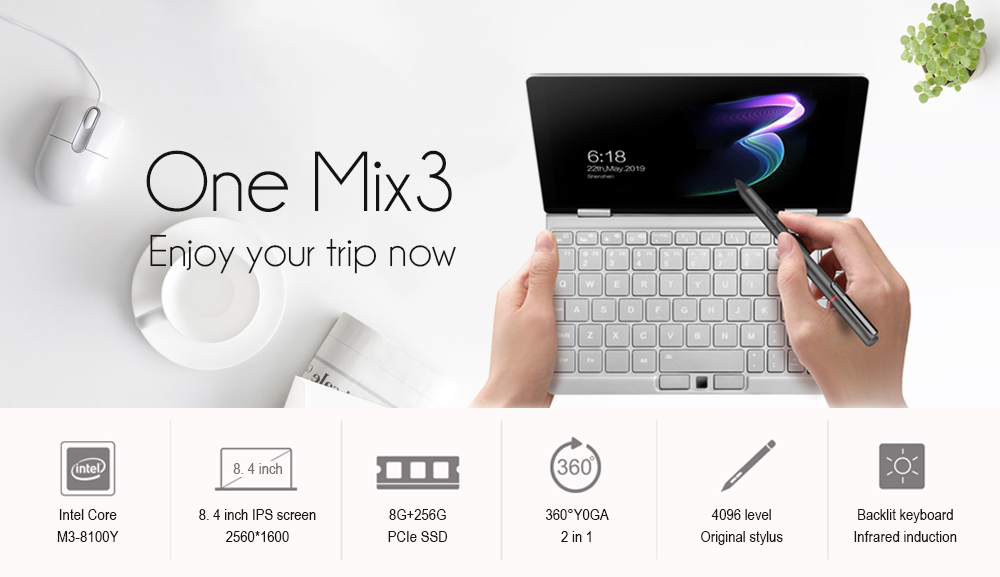 onenetbook One Mix3 8.4 pollici laptop- Platino