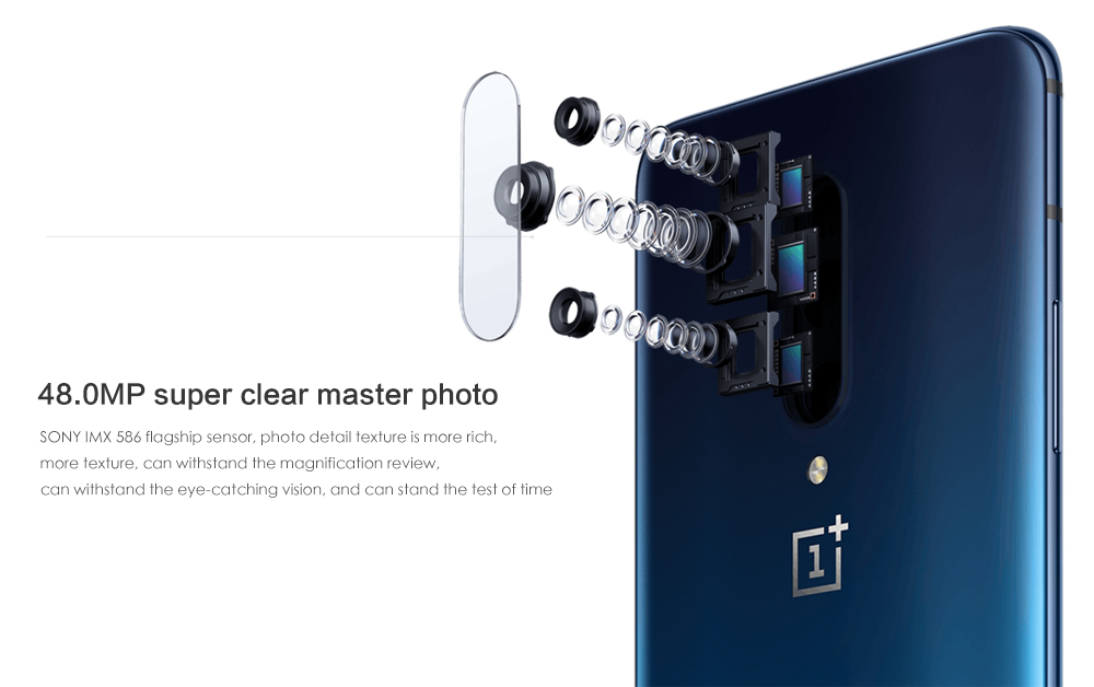 OnePlus 7 Pro 4G Phablet 6.67 inch Android 9.0 Snapdragon 855 Octa Core 2.84GHz 8GB RAM 256GB ROM 48.0MP + 16.0MP + 8.0MP Rear Camera 4000mAh Battery- Gray