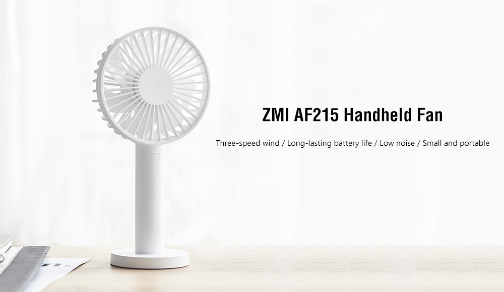 ZMI AF215 Mini Rechargeable Low Noise Handheld Fan - White