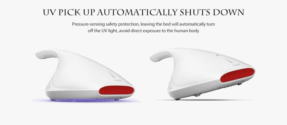 Deerma CM800 Home Light and Heat Shock Big Suction UV Vacuum Cleaner Dust Mite Controller from Xiaomi youpin- White