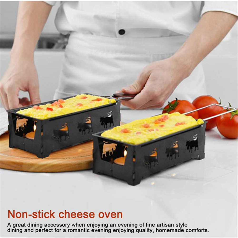 Mini Raclette Grill Home Kitchen Grilling Tool- Black