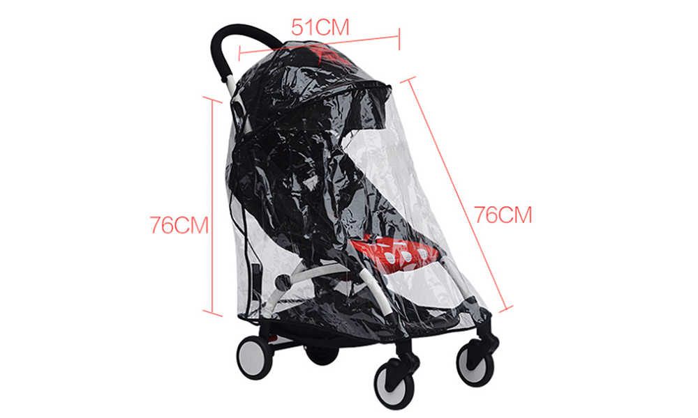 Universal Rain Cover Windproof Awning for Baby Stroller- Transparent