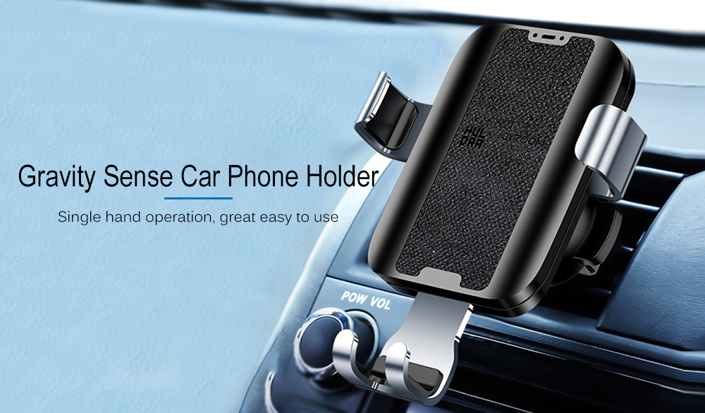 Joyroom JR - ZS181 Leather Wireless Gravity Phone Holder- Black for Air outlet