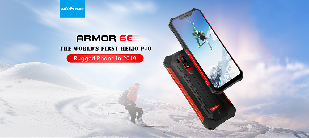 Ulefone Armor 6E 4G Phablet 6.2 inch Android 9.0 Helio P70 ( MT6771T ) Octa Core 2.1GHz 4GB RAM 64GB ROM 8.0MP Front Camera Fingerprint Sensor 5000mAh Built-in Other Area- Black Other Area